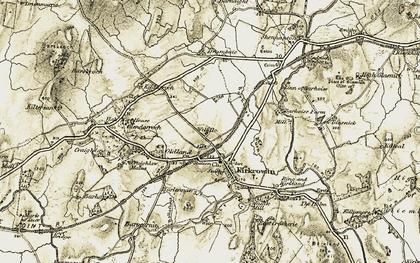 Old map of Linn of Barnoise in 1905