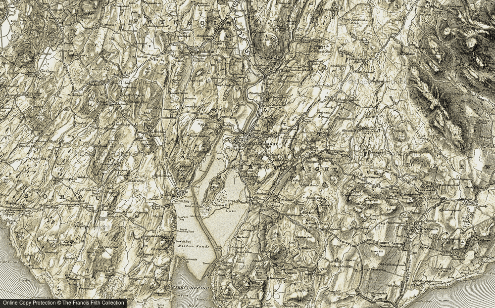 Old Map of Historic Map covering Barhill Wood in 1905