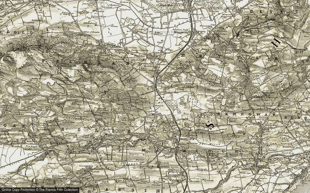 Old Map of Historic Map covering Balfarg in 1903-1908