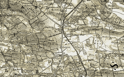 Old map of Bandon in 1903-1908