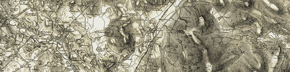 Old map of Toll Bar Cott in 1904-1905