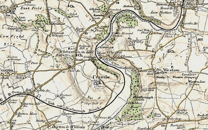 Old map of Kirkham in 1903-1904