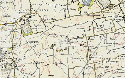 Old map of Toft Hall in 1901-1903