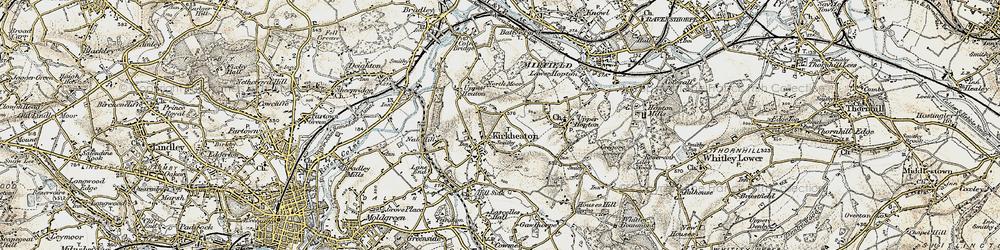 Old map of Kirkheaton in 1903