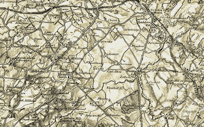 Old map of Kirkhill in 1904-1905