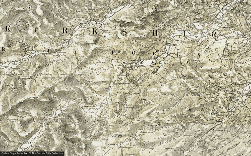 Old Map of Historic Map covering Bailie Burn in 1901-1904