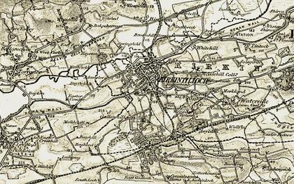 Old map of Kirkintilloch in 1904-1905