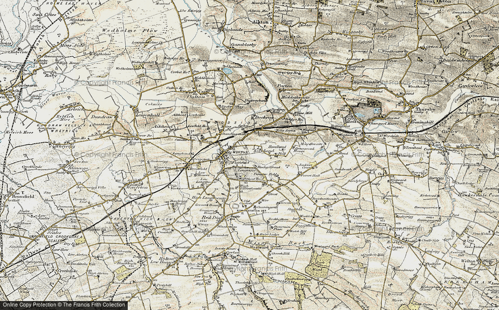 Old Map of Historic Map covering Tiffenthwaite in 1901-1904