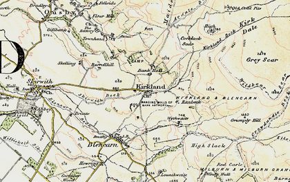 Old map of Bank Hall in 1901-1904
