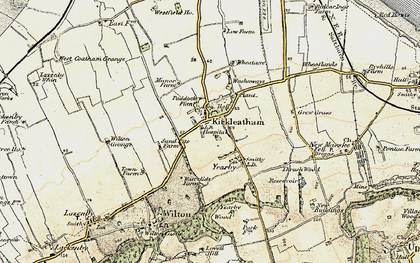Old map of Yearby Wood in 1903-1904