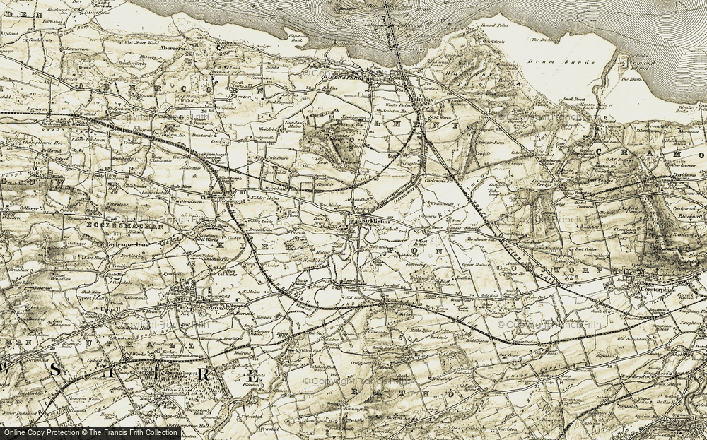 Old Map of Historic Map covering Almondhill in 1903-1906