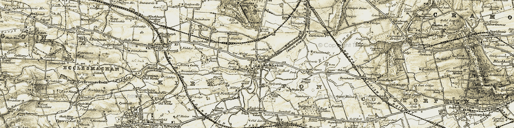 Old map of Wheatlands in 1903-1906