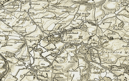 Old map of Aitkenhead in 1904-1905