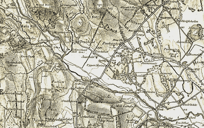 Old map of Ae Bridgend in 1901-1905