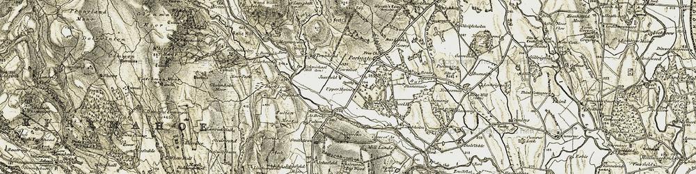 Old map of Ae Bridgend in 1901-1905