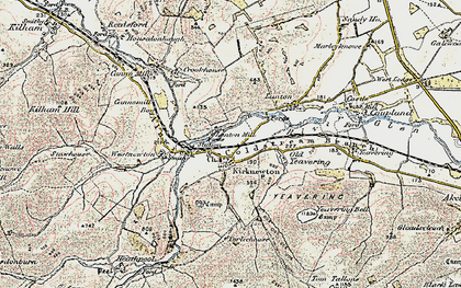 Old map of Yeavering Bell in 1901-1903