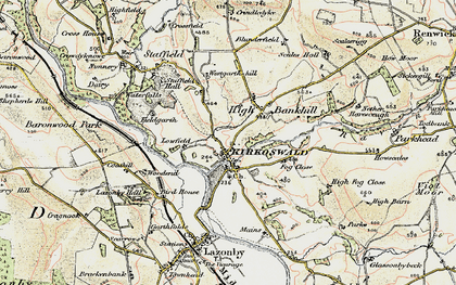 Old map of Westgarth Hill in 1901-1904
