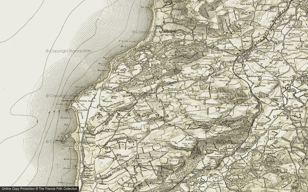 Old Map of Kirkoswald, 1905 in 1905