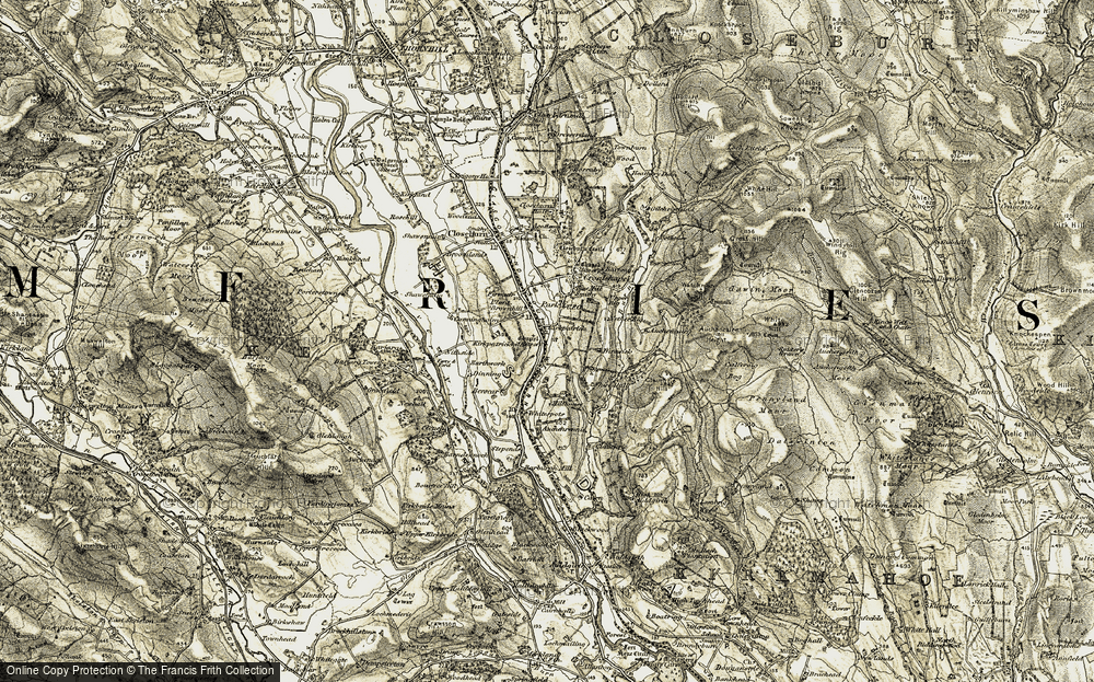 Old Map of Historic Map covering Auchencairn Height in 1904-1905