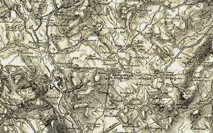 Old map of Kirkpatrick Durham in 1904-1905