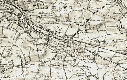Old map of Kirkpatrick-Fleming in 1901-1904