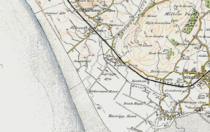 Old map of Kirksanton in 1903-1904