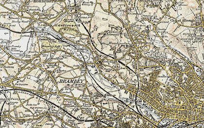 Old map of Kirkstall in 1903-1904