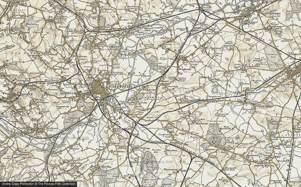 Old Map of Historic Map covering Heath in 1903