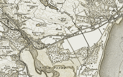 Old map of Balblair in 1910-1912