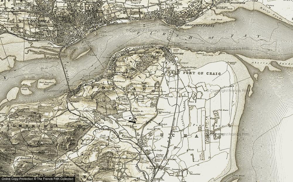 Old Map of Kirkton Barns, 1907-1908 in 1907-1908