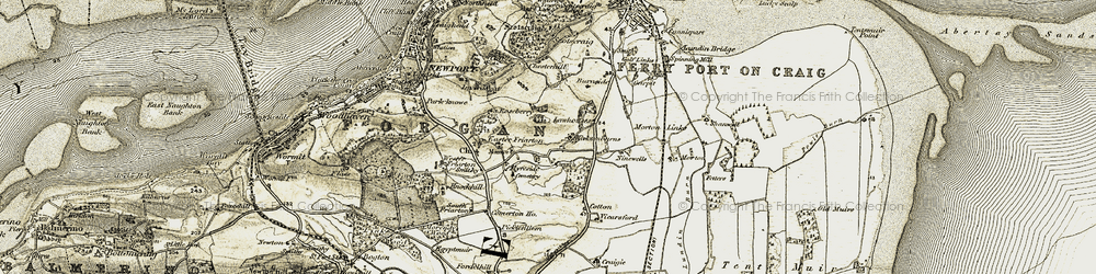 Old map of Kirkton Barns in 1907-1908