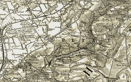 Old map of Downfield in 1906-1908