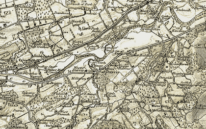 Old map of Balfour in 1908-1909