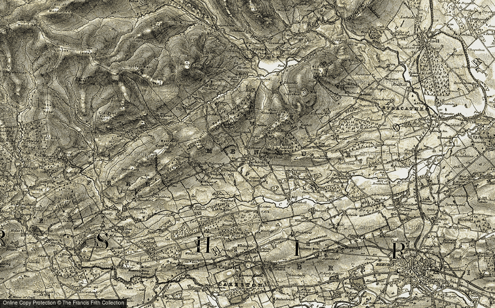 Old Map of Historic Map covering Balconnel in 1907-1908