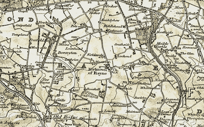 Old map of Lawfolds in 1909-1910