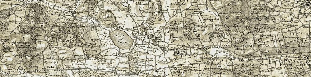 Old map of Whitestone in 1909