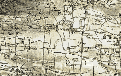 Old map of Balkemback in 1907-1908