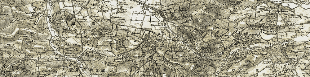 Old map of Whiteley in 1908-1909
