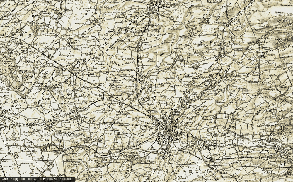 Old Map of Historic Map covering Altonhill in 1905-1906