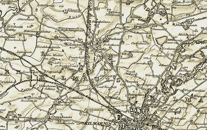 Old map of Altonhill in 1905-1906