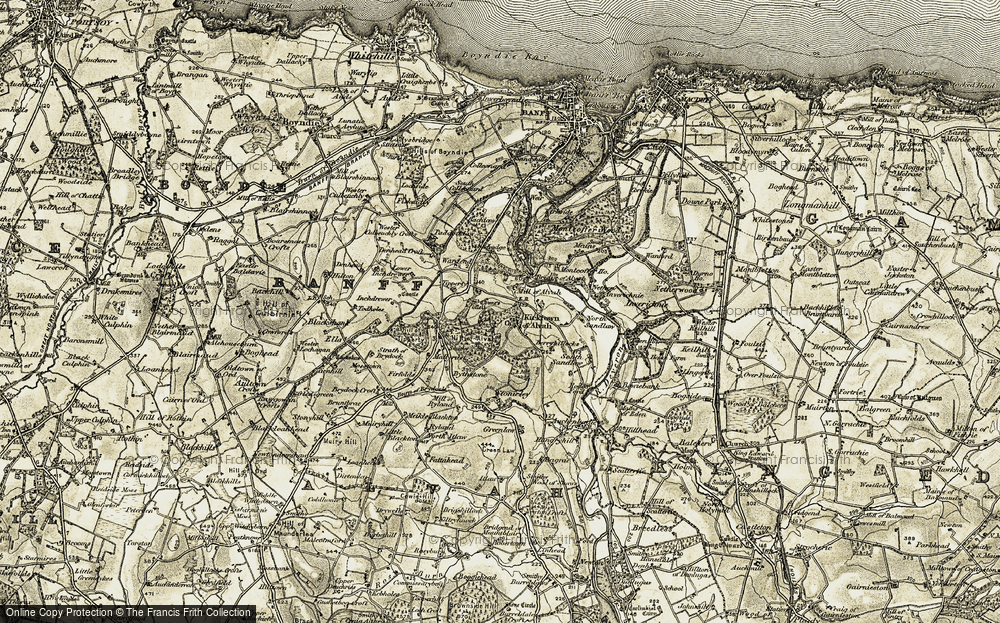Old Map of Historic Map covering Tipperty in 1910