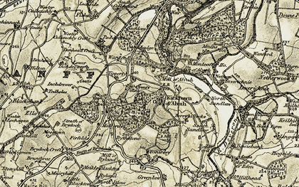 Old map of Tipperty in 1910
