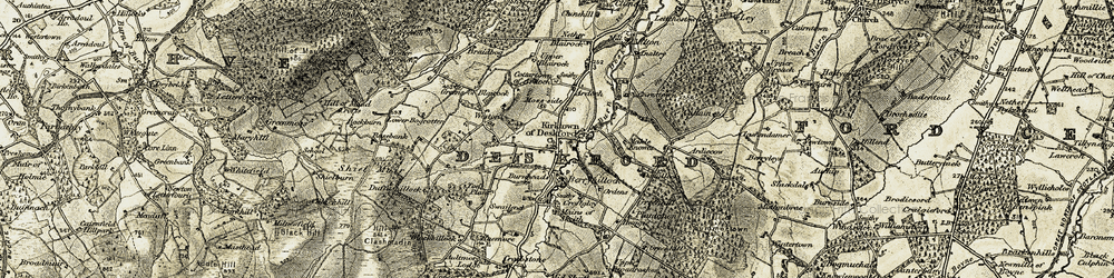 Old map of Weston in 1910