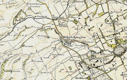 Old map of Whitridge Well in 1901-1903