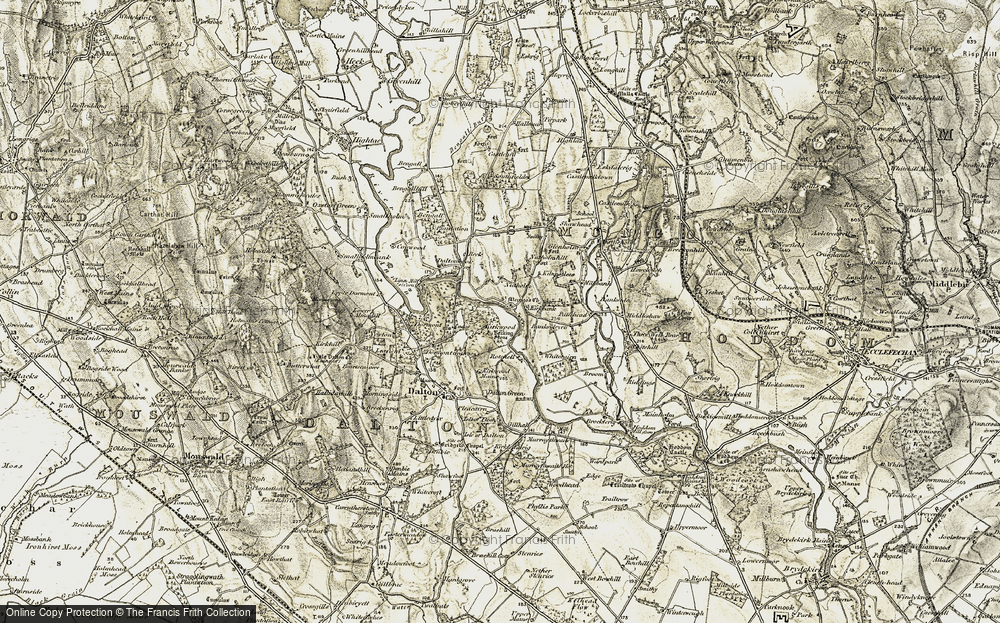 Old Map of Historic Map covering Banksideyett in 1901-1904