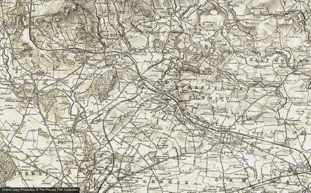 Old Map of Historic Map covering Langshaw Ho in 1901-1904