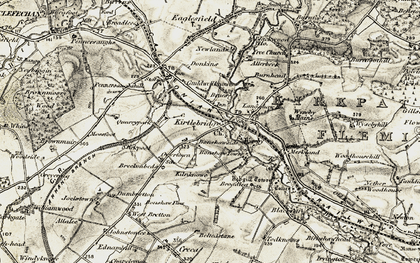 Old map of Wyseby in 1901-1904