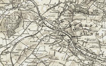Old map of Kirtlebridge in 1901-1904