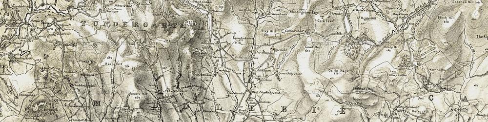 Old map of Winterhope Reservoir in 1901-1904