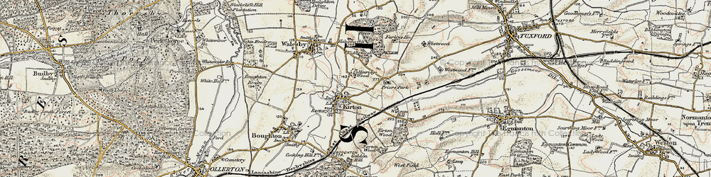 Old map of Winson Hill in 1902-1903